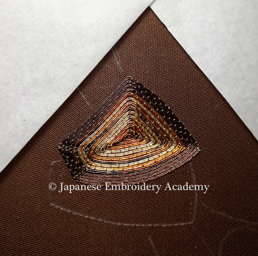 Japanese embroidery, noshi knot