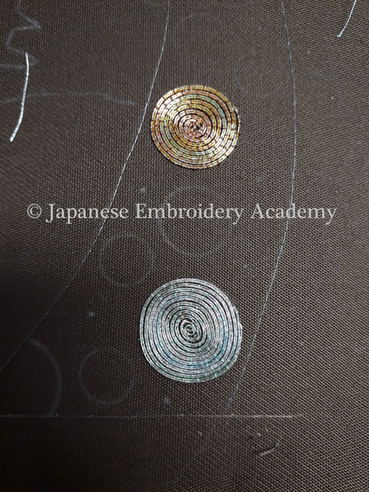 Japanese embroidery - inward spiral