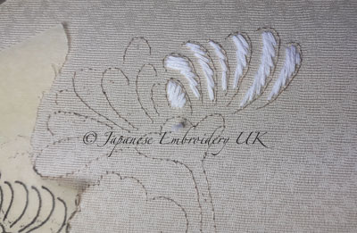 Japanese embroidery - padding cotton