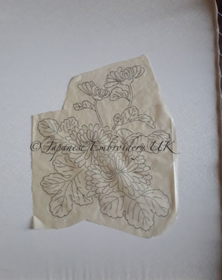 Japanese embroidery stitch transfer